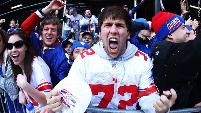 The New York Giants win the Super Bowl