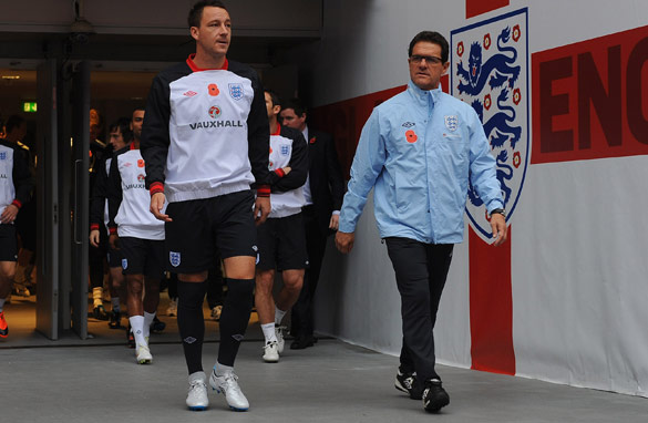 Fabio Capello had stood by John Terry despite him being stripped of the England captaincy. (Getty Images)