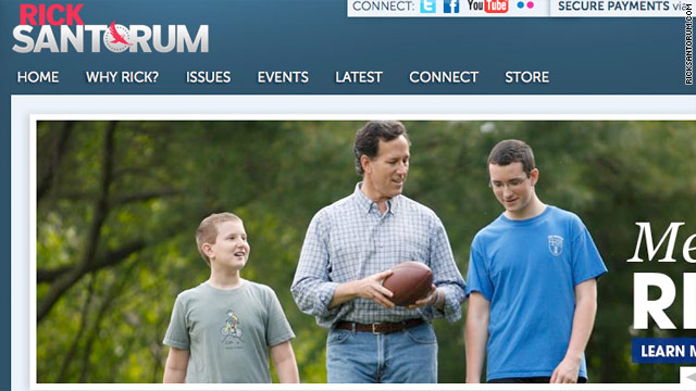 Santorum raises $1 million in past 24 hours; website sees boost after wins