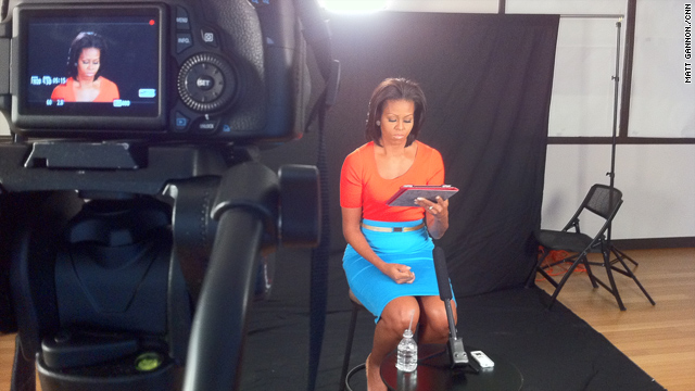 First Lady Michelle Obama takes iReporters' Questions