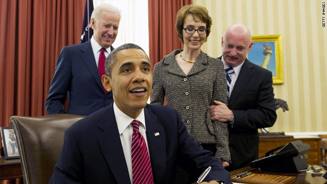 Gabrielle Giffords' anti-drug legislation signed into law