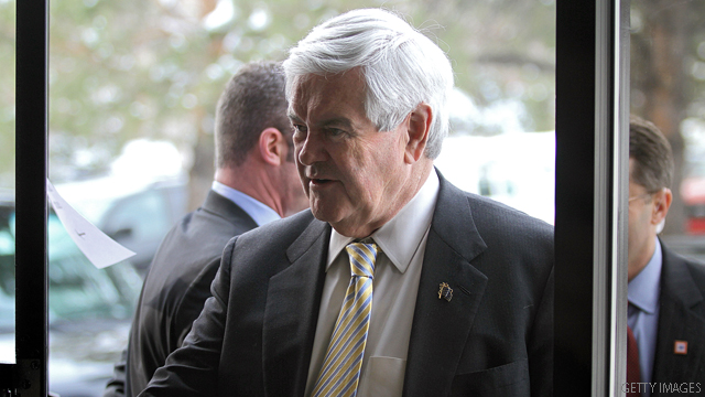 Gingrich spent more than he raised, February numbers show