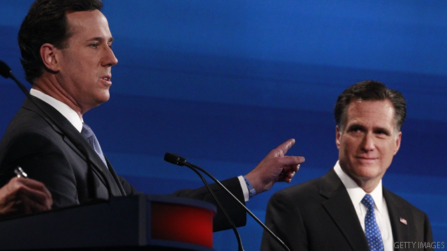 Polls: All tied up between Romney and Santorum