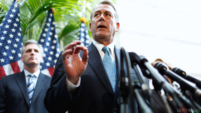 Boehner warns GOP against 'spiking the ball' on health care ruling