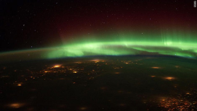 Aurora Borealis Over the Midwest