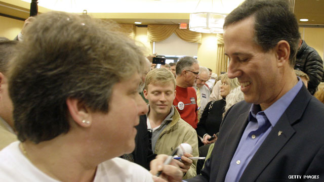 Poll: Santorum leads Romney nationwide by eight points