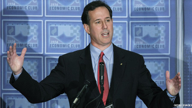 Santorum leads in his home state's horserace