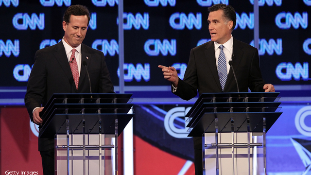 Borger: New case of class warfare - between Santorum and Romney