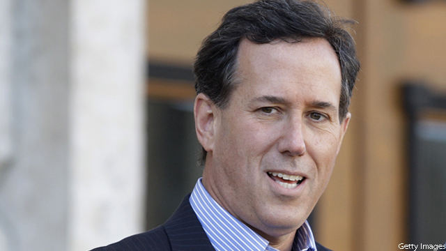 Santorum lead shrinking in national poll