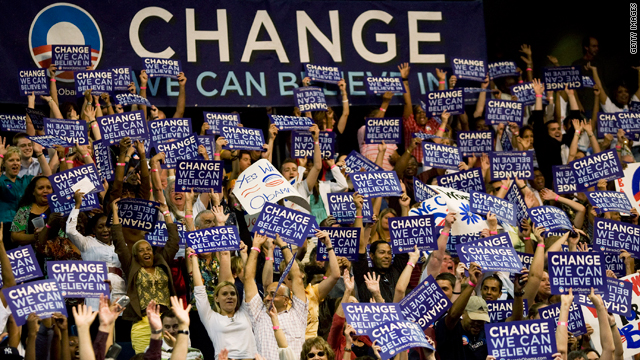 What would you suggest for President Obama's new campaign slogan?
