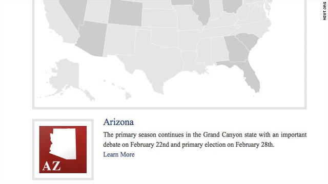 Gingrich website shows shifting strategy