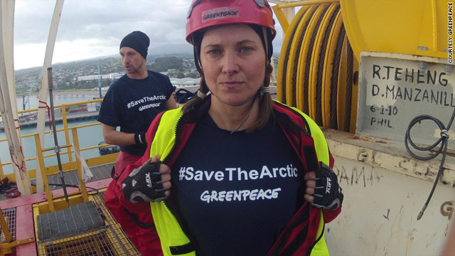 Lucy goes lawless protesting aboard drillship