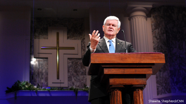 Gingrich tells evangelicals: 'We need to stand up for ourselves'