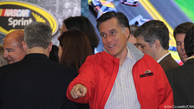 Romney makes rounds at Daytona 500