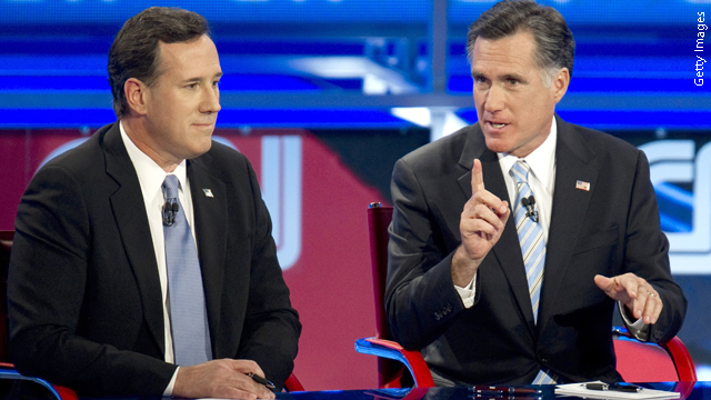 Romney, Santorum in final push to Tuesday primaries