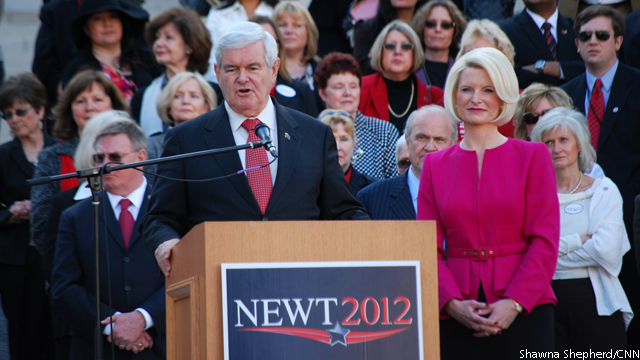 Gingrich zeroes in on Santorum in the South