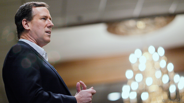 Stumping in Pennsylvania, Santorum brings up Puerto Rico statehood