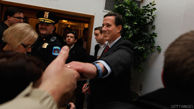 Santorum maintains lead in Ohio
