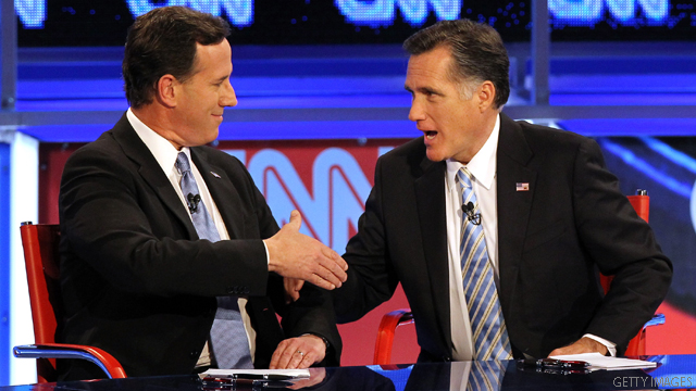 Romney, Santorum face Michigan showdown