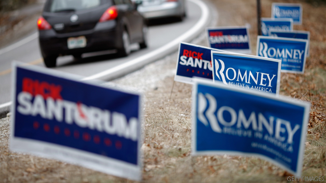Romney goes on the air in Illinois; Santorum in Louisiana