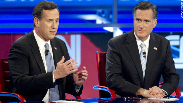 Romney, Santorum camps at odds over delegate math