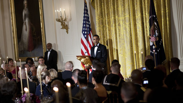 Details from the armed forces dinner