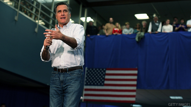 Romney nears Obama in swing state campaign ad spending
