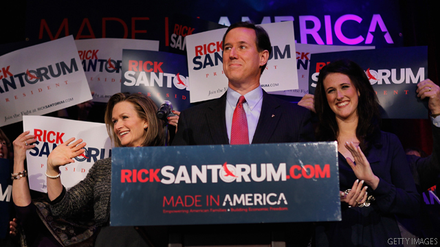 Santorum camp: Michigan's a tie