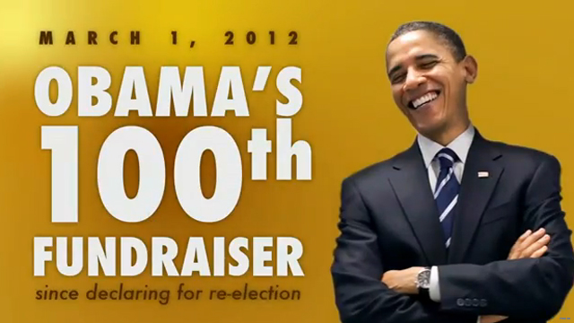 GOP spotlights president's 100th fundraiser