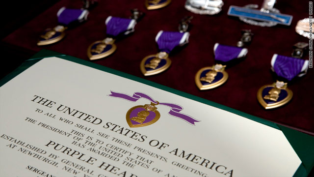 President awards purple hearts