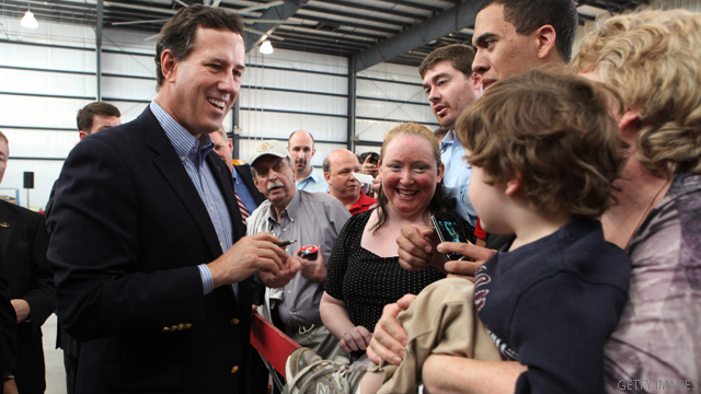 Santorum wins Kansas caucuses; Romney touts delegate gains
