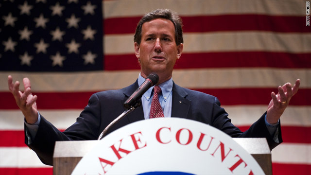 Santorum ineligible for some Ohio delegates