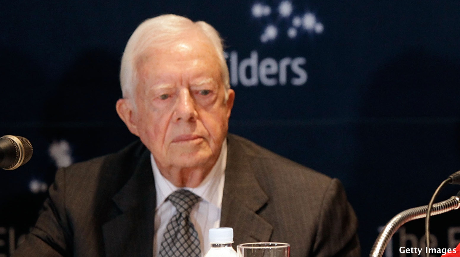 Jimmy Carter bemoans money in politics on Super Tuesday