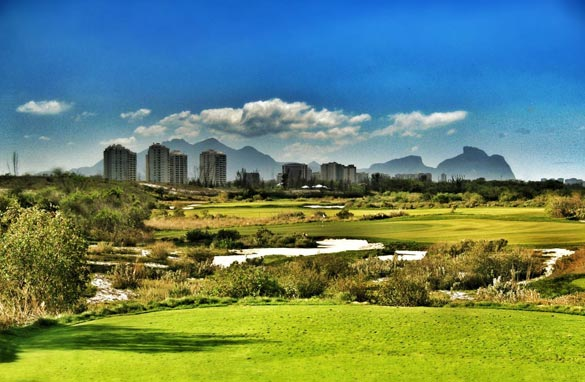 An illustrative version of the proposed Olympic golf course in the Rio suburbs.