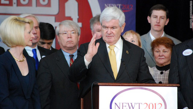 Gingrich sins 'well short of the glory of God'