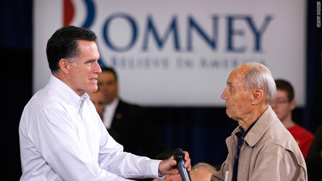 Why is Mitt Romney so popular with senior citizens?
