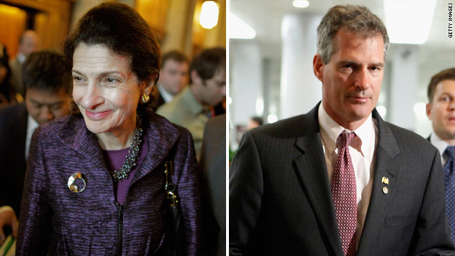 Snowe backs Brown in Massachusetts Senate battle