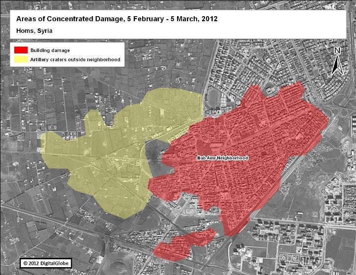 Satellite images from Syria show damage, destruction