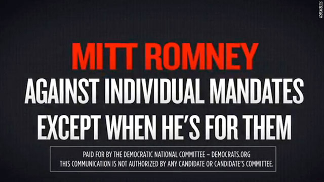 DNC hits Romney on individual mandate