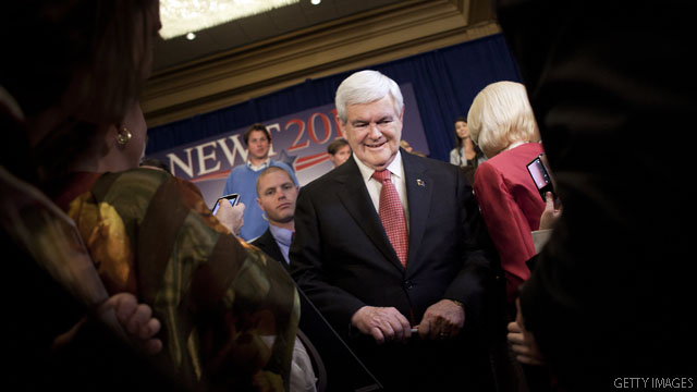 Gingrich faults fundraising for campaign changes