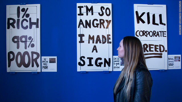 For $2,500, Brooklyn artist invites 1% to take home complaints of the 99%