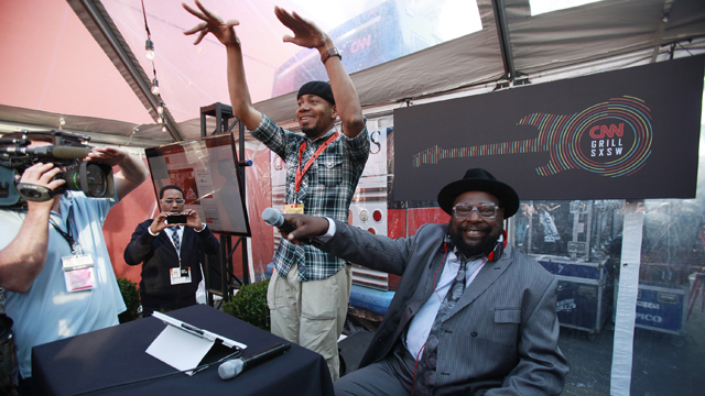 Spotted: George Clinton at the CNN Grill at SXSW
