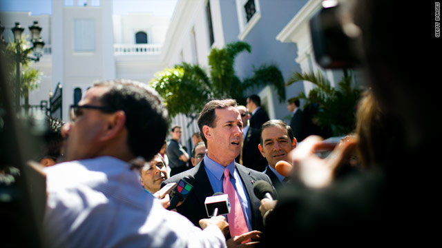 Santorum says Puerto Rico must adopt English for statehood
