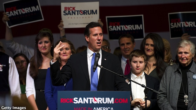 Santorum brings in $1 million this week
