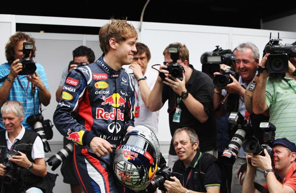 Sebastian Vettel is the center of media attention ahead of the opening grand prix of the season in Australia.