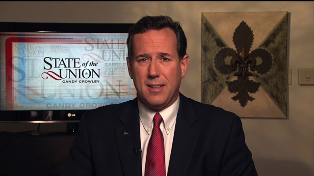 Santorum: America doesn't need Romney as CEO