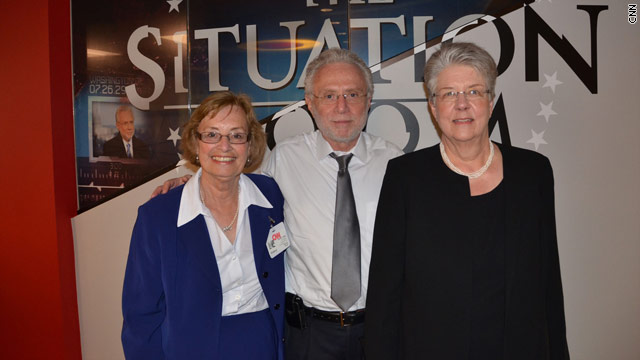 BLITZER&#039;S BLOG: Edith and Carolyn visit The Situation Room