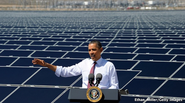 Obama goes after solar opponents in Nevada