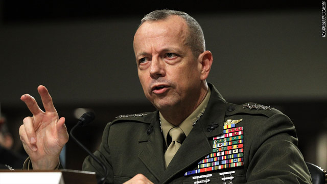 Top general wants Afghan troop levels to hold after surge
