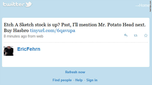 Tweet of the day: Mr. Potato Head